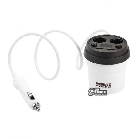Автомобильное зарядное устройство Remax Coffee Cup Car Charger CR-2XP 2USB, белое
