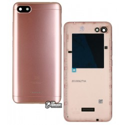Задняя панель корпуса для Xiaomi Redmi 6A, розовая, dual SIM