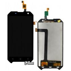 Дисплей для Blackview BV6000, BV6000s, черный, с сенсорным экраном (дисплейный модуль)