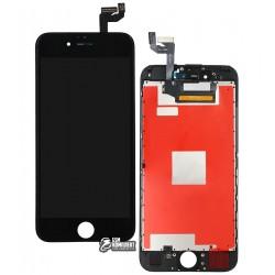 Дисплей iPhone 6S, черный, с сенсорным экраном (дисплейный модуль), с рамкой, Сopy, NCC ESR ColorX