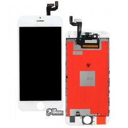 Дисплей iPhone 6S, белый, с сенсорным экраном (дисплейный модуль), с рамкой, Сopy, NCC ESR ColorX