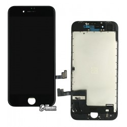 Дисплей iPhone 8, черный, с сенсорным экраном (дисплейный модуль), high-copy