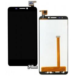 Дисплей для Alcatel One Touch 6030 Idol, черный, с сенсорным экраном (дисплейный модуль)