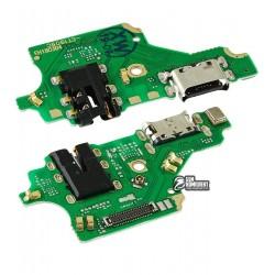 Шлейф для Huawei P20 Lite, коннектора зарядки, с микрофоном, плата зарядки