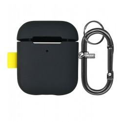 Чехол для Apple AirPods Baseus Woven Label Hook Protective Case, серый
