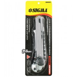 Нож канцелярский SIGMA, метталический корпус, 18 мм, 8211051