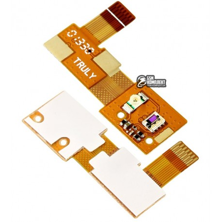 Шлейф для Fly IQ443 Trend, original, динаміка, з датчиком приближення, з компонентами, #N808-E88000-000