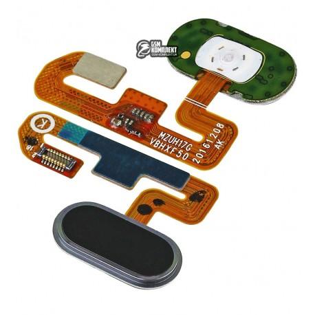 Шлейф для Meizu M3E, кнопки меню, чорний