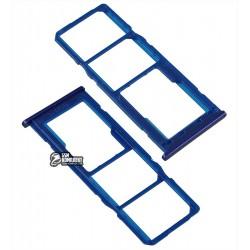 Держатель SIM-карты для Samsung M105F/DS Galaxy M10, синий, ocean blue