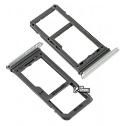 Держатель SIM-карты для Samsung G950FD Galaxy S8, G955FD Galaxy S8 Plus, серебристый, arctic Silver, single SIM