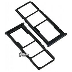 Держатель SIM-карты для Samsung M205F/DS Galaxy M20, черный, charcoal black