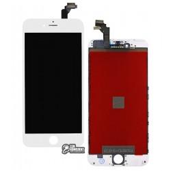 Дисплей для iPhone 6 Plus, белый, с сенсорным экраном (дисплейный модуль), с рамкой, AAA, Tianma+