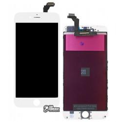 Дисплей iPhone 6 Plus, белый, с сенсорным экраном (дисплейный модуль), с рамкой, Сopy, NCC ESR ColorX
