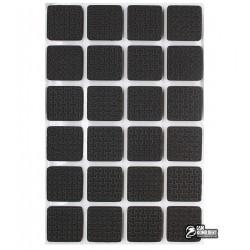 Самоклеющиеся ножки для корпуса, вспененные, квадратные 20 x 20 мм, 24шт
