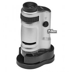Мини микроскоп MG10081-8, 20x - 40x, LED подсветка