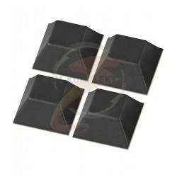 Самоклеющиеся ножки для корпуса, резина, квадратные 13 x 13 мм, 4шт