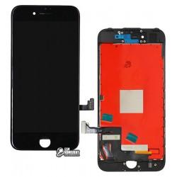 Дисплей для iPhone 7, черный, с сенсорным экраном (дисплейный модуль), с рамкой, AAA, Tianma+