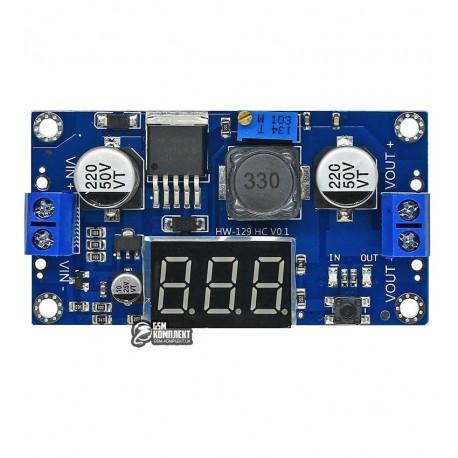 DC\DC понижающий регулируемый преобразователь с вольтметром на LM2596