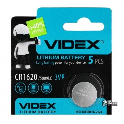 Батарейка CR1620 Videx, 1шт.