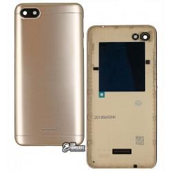 Задняя панель корпуса для Xiaomi Redmi 6A, золотистая, dual SIM