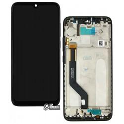 Дисплей Xiaomi Redmi Note 7, Redmi Note 7 Pro, черный, с сенсорным экраном (дисплейный модуль), с рамкой, Original (PRC)