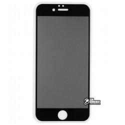 Закаленное защитное стекло для iPhone 6, iPhone 6s, 2,5D, Full Glue, Антишпион, черное