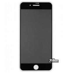 Закаленное защитное стекло для iPhone 7 Plus, iPhone 8 Plus, 2,5D, Full Glue, Антишпион, черное