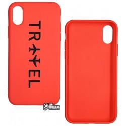 Чехол для Apple iPhone X, iPhone Xs, Toto Matt TPU Print case, travel