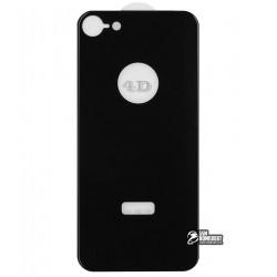 Закаленное защитное стекло для iPhone 8, 4D Glass, на заднее стекло, черное