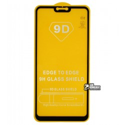 Закаленное защитное стекло для OnePlus 6, 0,26 mm 9H, 2.5D, Full Glue, черное
