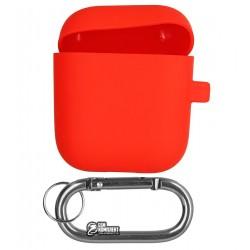 Чехол для Apple AirPods Silicone Case Slim с карабином
