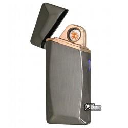 Зажигалка USB HL-25, электрическая, со спиралью, серая