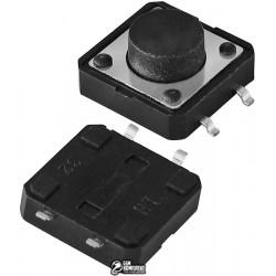 Кнопка тактовая SMD, 12 x 12 x 6 мм, 4pin