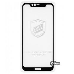 Закаленное защитное стекло для Nokia 5.1 Plus, 0,25 мм, 2.5D, 9H, Full Glue, черное