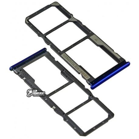 Держатель SIM-карты для Xiaomi Redmi Note 8, синий