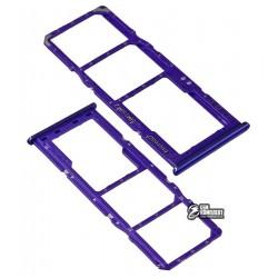 Держатель SIM-карты Samsung A207F/DS Galaxy A20s, фиолетовый