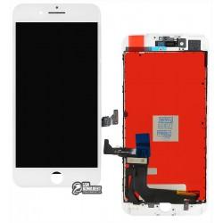 Дисплей для iPhone 7 Plus, белый, с сенсорным экраном (дисплейный модуль), с рамкой, Сopy, Tianma+