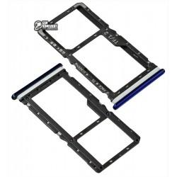 Держатель SIM-карты Xiaomi Redmi Note 7, синий
