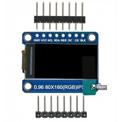 Дисплей OLED IPS 80x160 0.96 дюйма, SPI интерфейс 8pins, st7735, full color