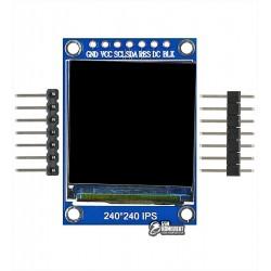 Дисплей OLED IPS 240x240 1.3 дюйма, SPI интерфейс 7pins, st7735, full color