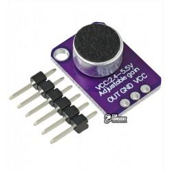 Датчик звука со встроенным микрофонным усилителем MAX4466