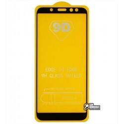 Закаленное защитное стекло для Samsung A600 Galaxy A6 2018, 2.5D, 0,26 мм 9H, Full Glue, черное