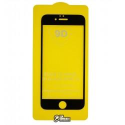 Закаленное защитное стекло 3D для Apple iPhone 6, iPhone 6S, 0,2 mm 9H, черное, пластиковая рамка