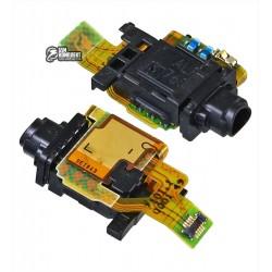 Шлейф для Sony F5121 Xperia X, F5122 Xperia X Dual, коннектора наушников, с компонентами