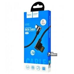 Кабель Hoco U37 Long roam charging Micro \ black