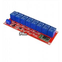 Восьмиканальный релейный модуль для ARDUINO с Bluetooth, 24V