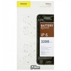 Аккумулятор Baseus для Apple iPhone 6, Li-Polymer, 3,7 В, 2200 мАч, усиленный
