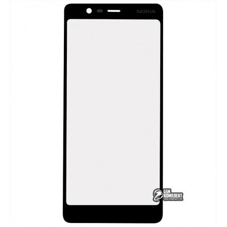Стекло корпуса для Nokia 5.1 Dual Sim, TA-1075, черный