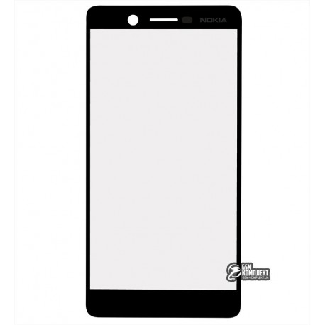 Стекло корпуса для Nokia 7 Dual Sim, TA-1041, черный