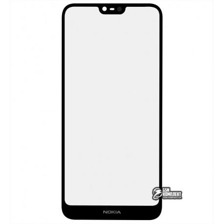 Стекло корпуса для Nokia 7.1 Dual Sim, черный